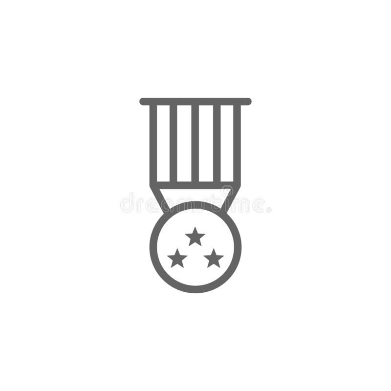 Medaille, Preis, USA-Ikone Element von 4. von Juli-Ikone D?nne Linie Ikone f?r Websitedesign und Entwicklung, APP-Entwicklung ers lizenzfreie abbildung