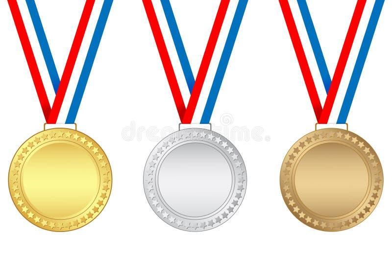 Medaillen stock abbildung