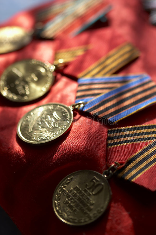 Medaillen stockfoto