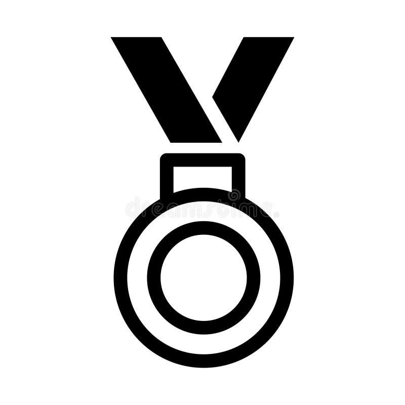 Medaillen-Ikone in der modischen flachen Art lokalisiert auf grauem Hintergrund Medaillensymbol f?r Ihr Websitedesign, Logo, APP, stock abbildung
