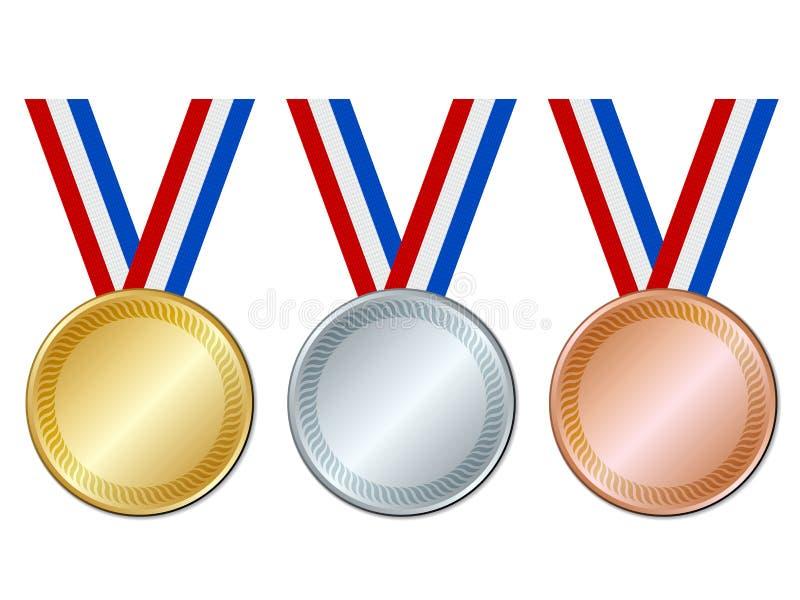 Medailles vector illustratie