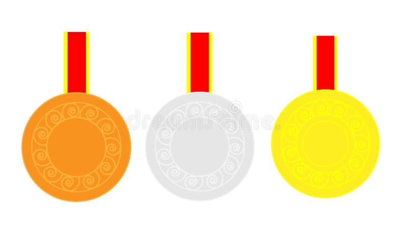 medailles royalty-vrije illustratie
