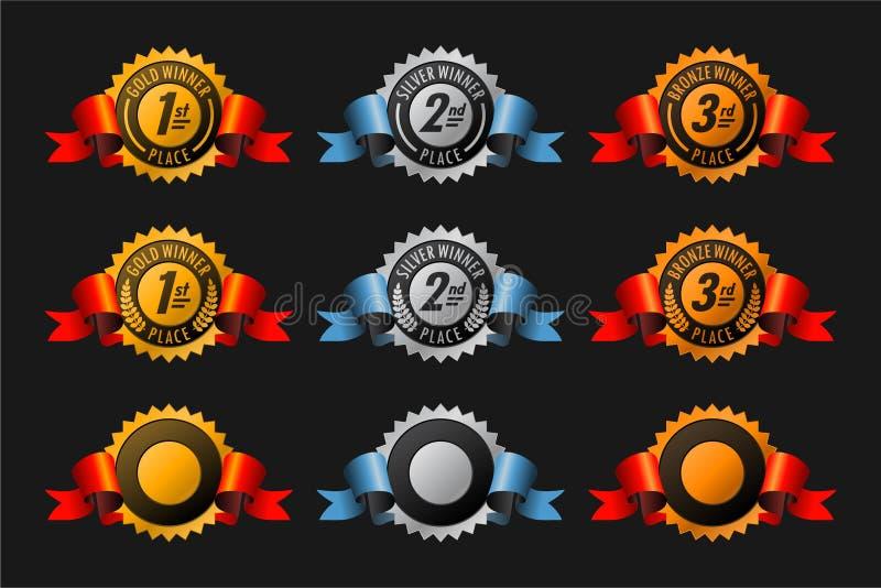 Medailles stock illustratie