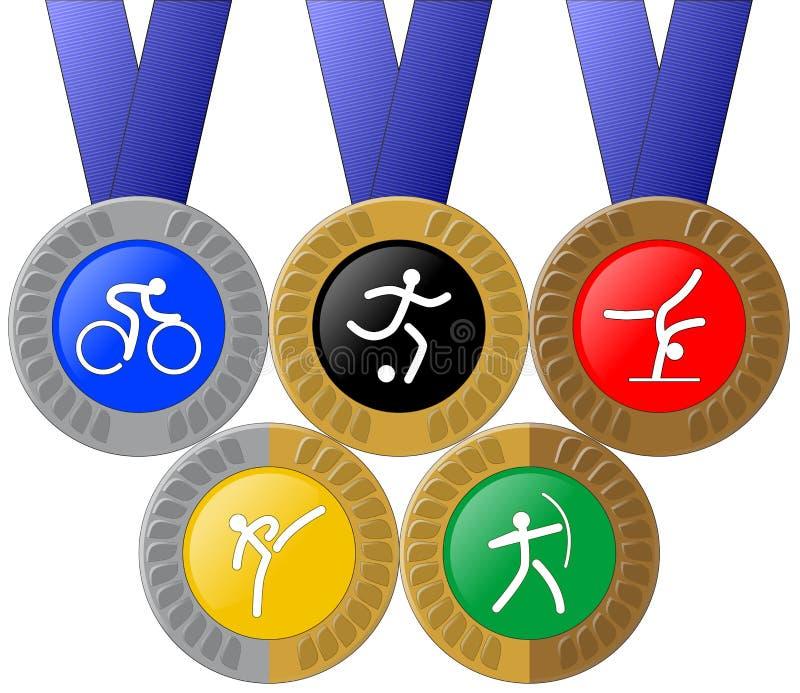Medailles en Ringen vector illustratie