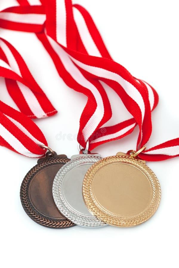 Medailles met linten royalty-vrije stock foto