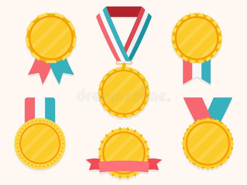 Medailles met linten royalty-vrije illustratie