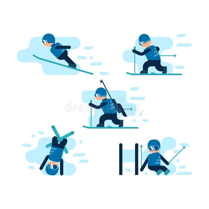 Medailles voor de winter en de zomerspelen royalty-vrije illustratie