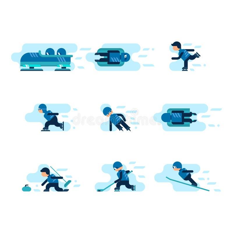 Medailles voor de winter en de zomerspelen vector illustratie