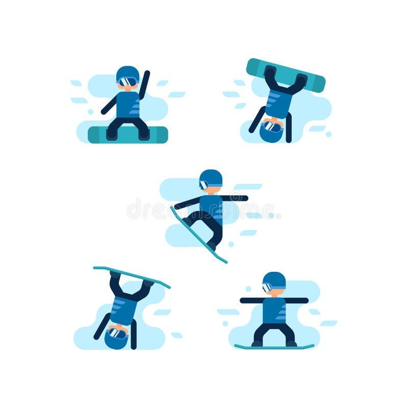 Medailles voor de winter en de zomerspelen stock illustratie
