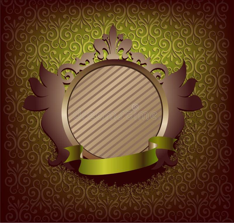 Medaillon met groen lint stock illustratie