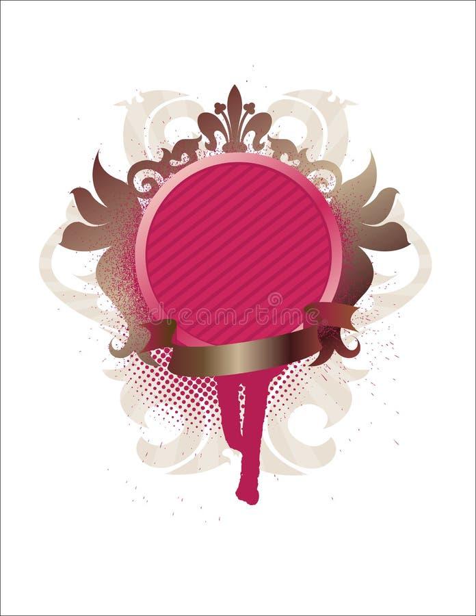 medaillon met lint royalty-vrije illustratie