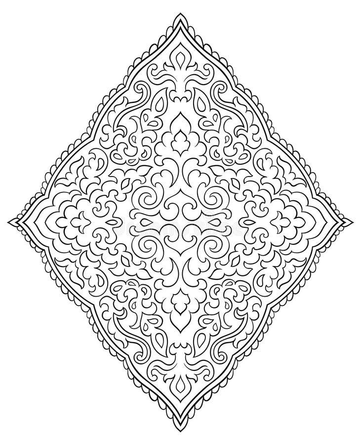 Medaillon voor ontwerp royalty-vrije illustratie