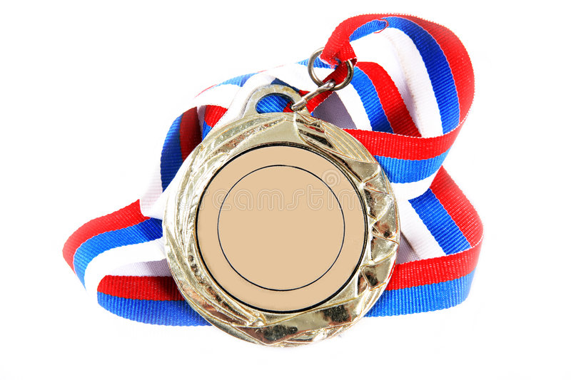 Medal and color Ribbon royalty free stock photo