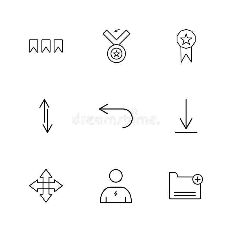 medal, downlad, falcówka, strzała, kierunki, avatar, downloa ilustracja wektor