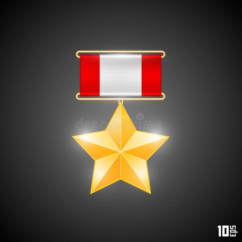Medal hero stock illustration