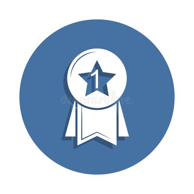 medal ikona w odznaka stylu Jeden edukaci inkasowa ikona może używać dla UI UX ilustracji