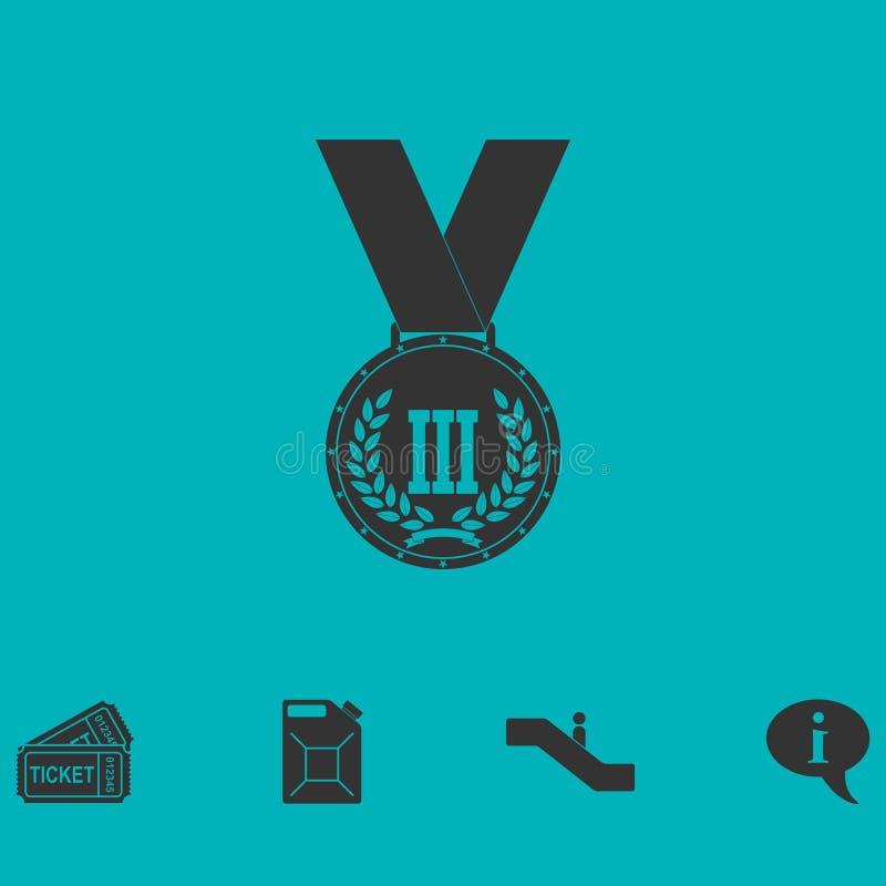 Medal ikony mieszkanie ilustracja wektor