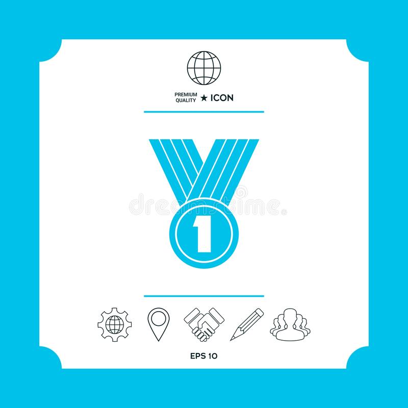 Medal ikony symbol royalty ilustracja