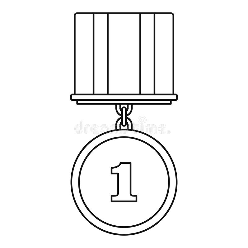 Medal ikony wektoru cienka linia ilustracja wektor