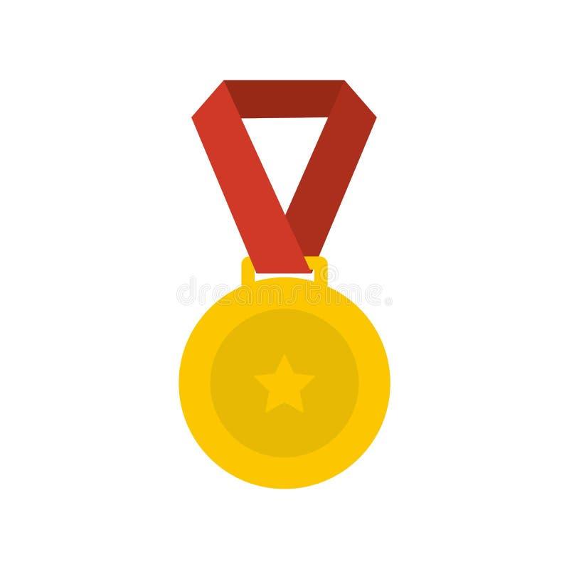 Medal ikony wektoru mieszkanie royalty ilustracja