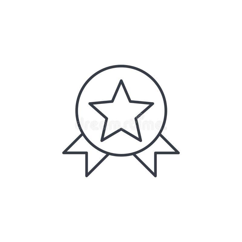 Medal, nagrody cienka kreskowa ikona Liniowy wektorowy symbol royalty ilustracja