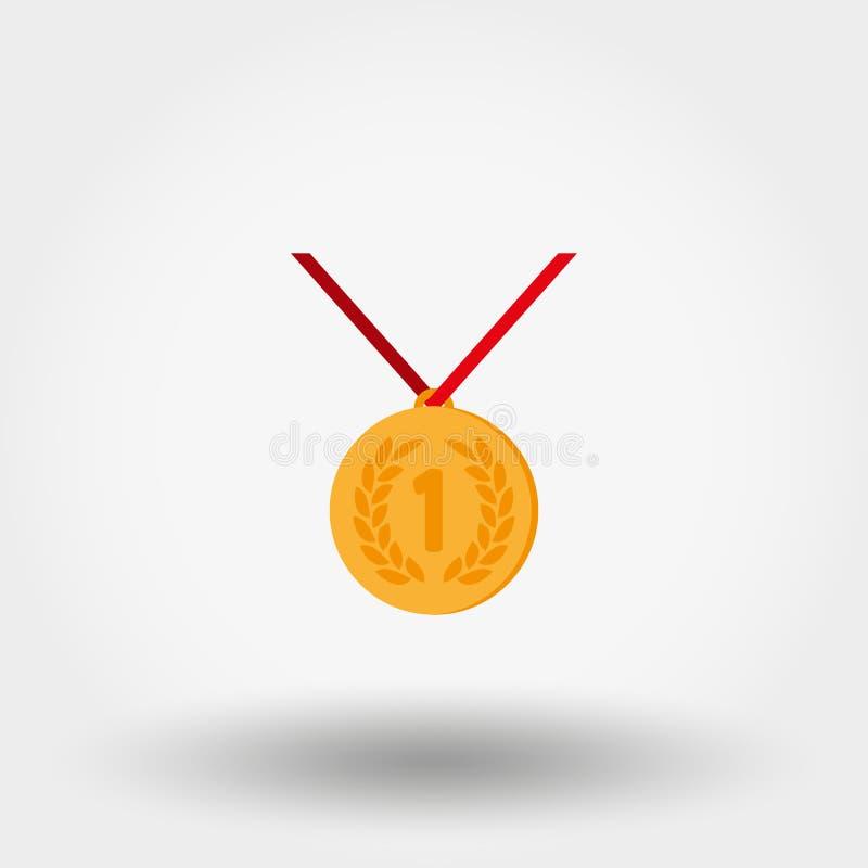 medal pierwsze miejsce ilustracja wektor
