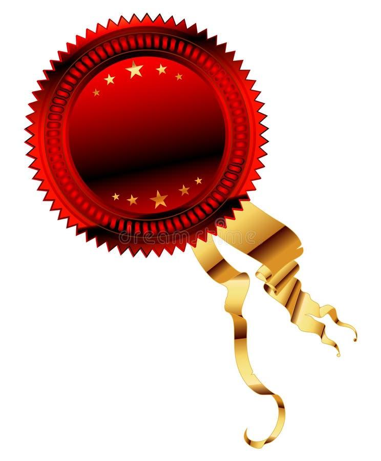Download Medal red stock vector. Illustration of heraldic, golden - 10162014