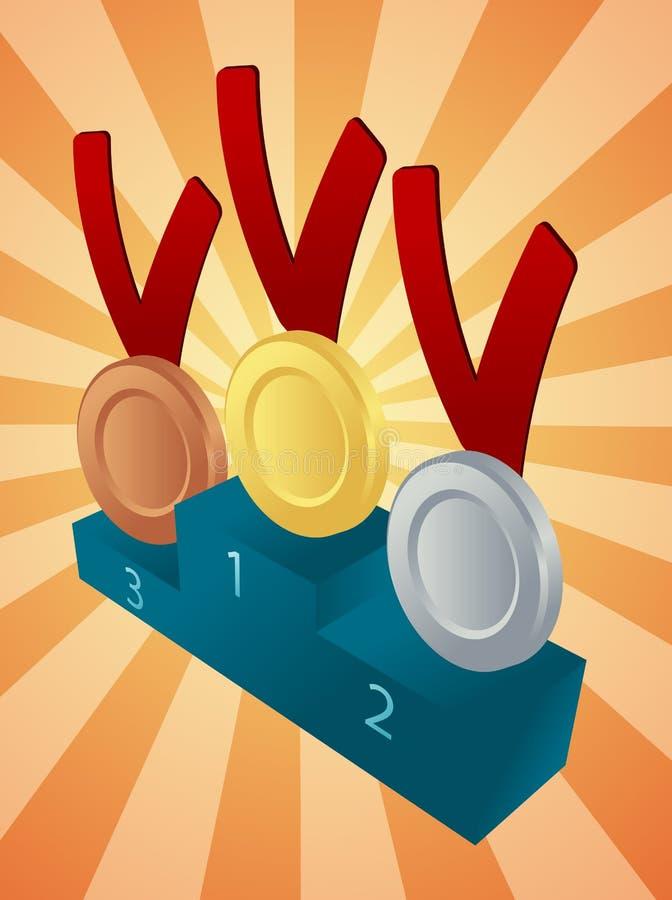 Download Medal winners stock illustration. Illustration of design - 7541124