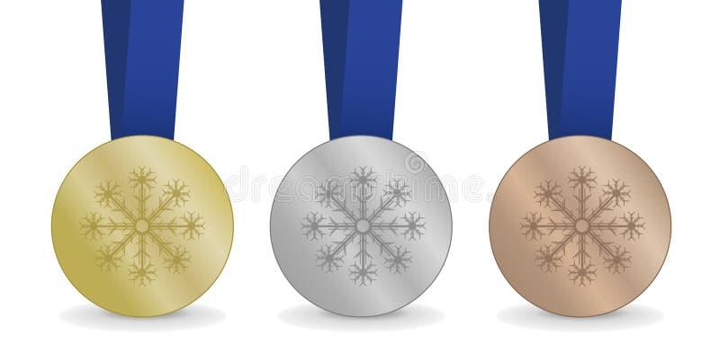 Medale dla zim gier ilustracja wektor