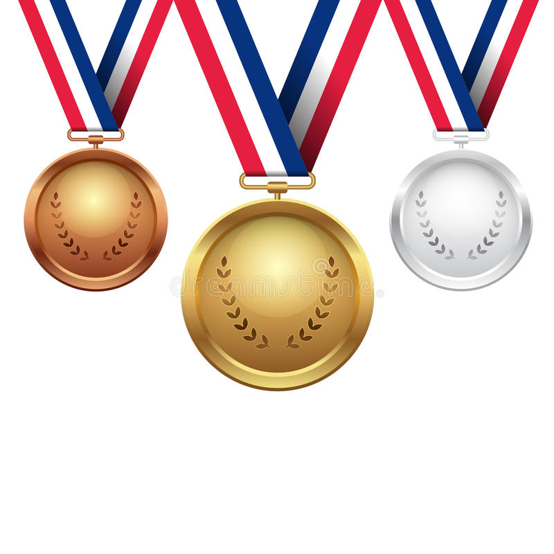 Medale ilustracyjni ilustracja wektor