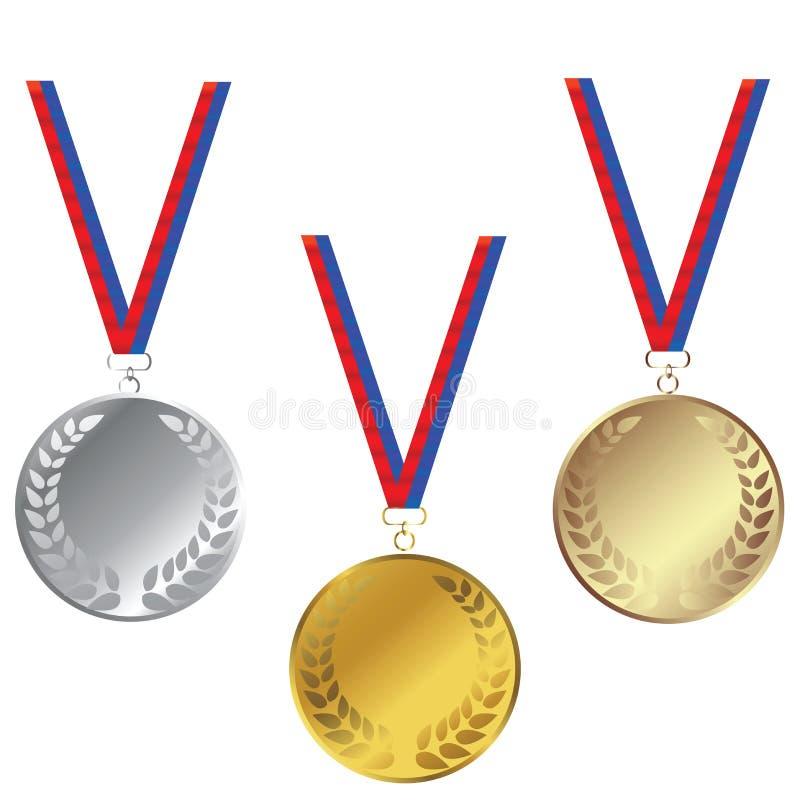 medale ustawiają ilustracja wektor
