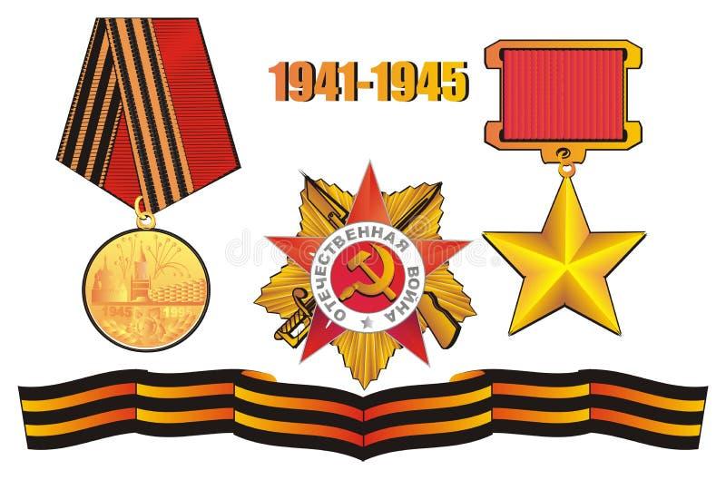 Medale z faborkiem i liczbami ilustracji