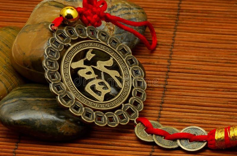 Medalhão asiático fotografia de stock royalty free