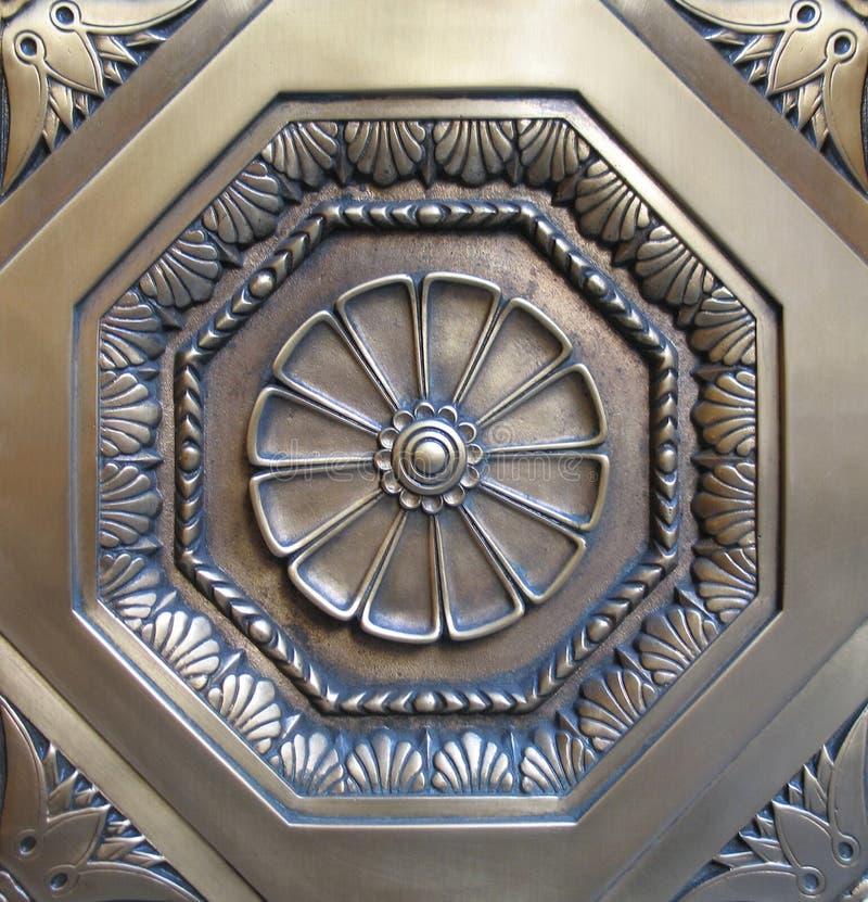Medalhão decorativo do metal imagens de stock