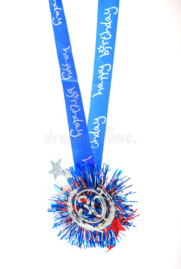 Medalhão do feliz aniversario foto de stock