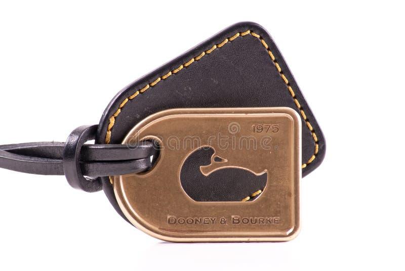Medalhão do tipo do desenhador de Dooney e de Bourke imagem de stock royalty free
