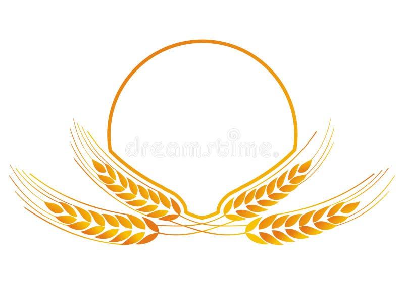 Medalhão do trigo para o logotipo ilustração stock