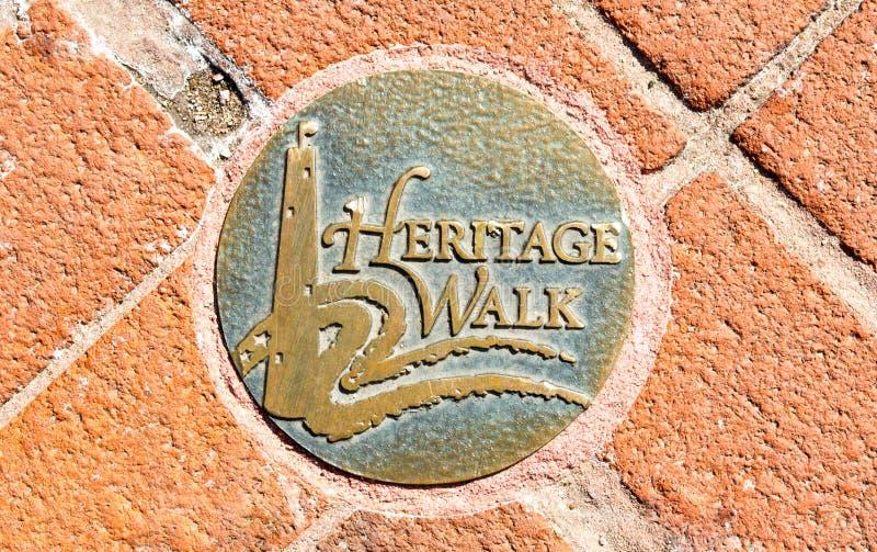 Medalhão redondo do passeio na caminhada da herança do ` s de Baltimore foto de stock