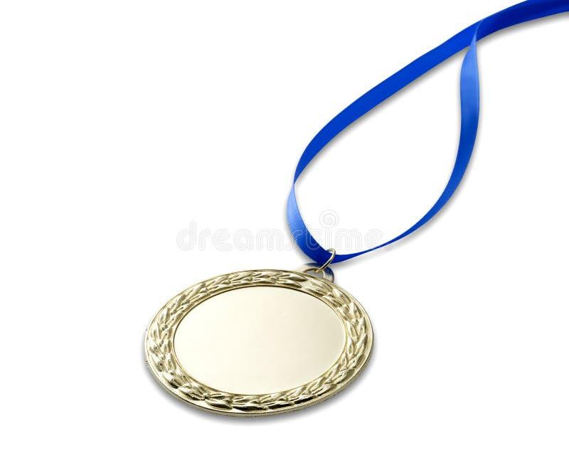 Medalha 3 dos olympics do ouro com trajeto de grampeamento fotografia de stock