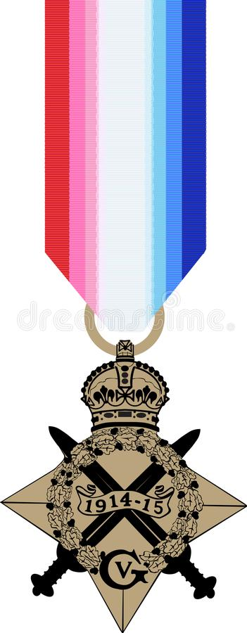 Medalha da estrela de WW1 1914-15 ilustração do vetor