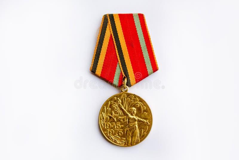 Medalha da guerra de União Soviética fotografia de stock