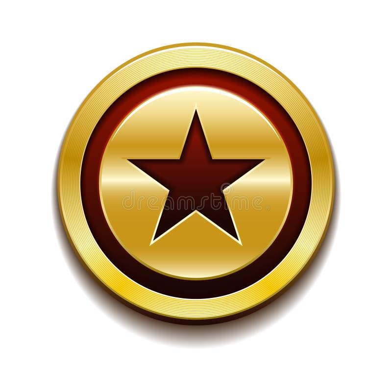 Medalha da moeda da estrela do ouro ilustração royalty free