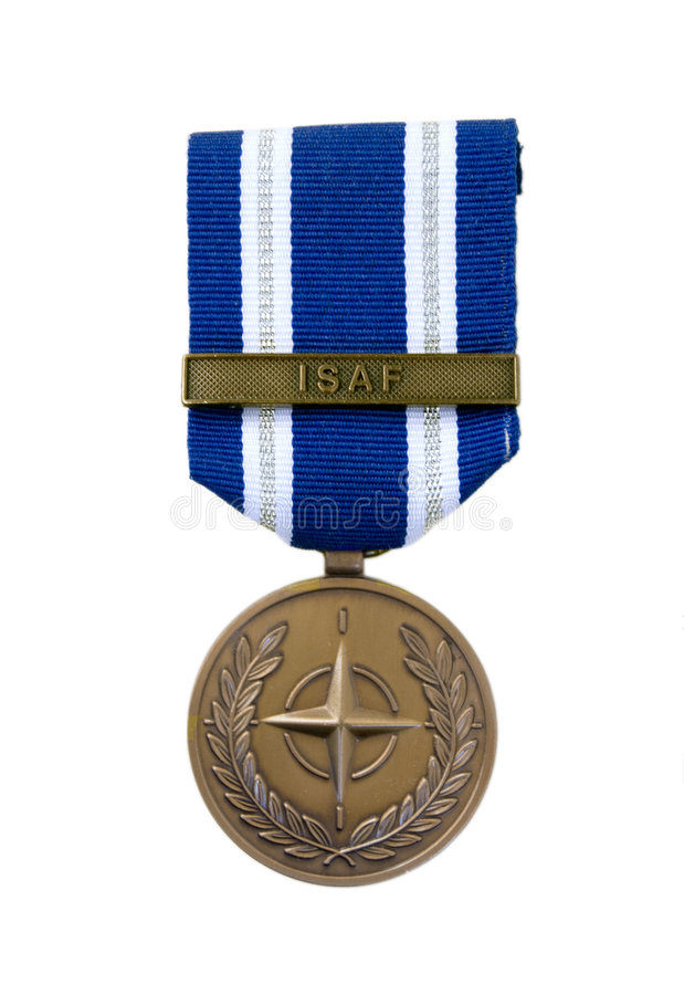 Medalha da OTAN foto de stock
