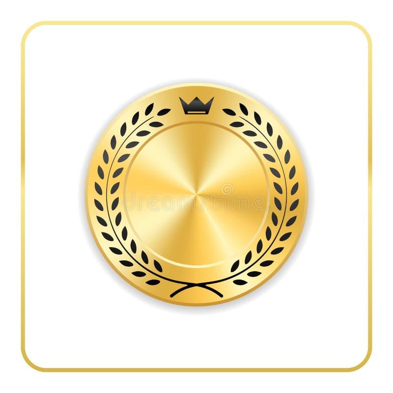 Medalha da placa do ícone do ouro da concessão do selo ilustração royalty free