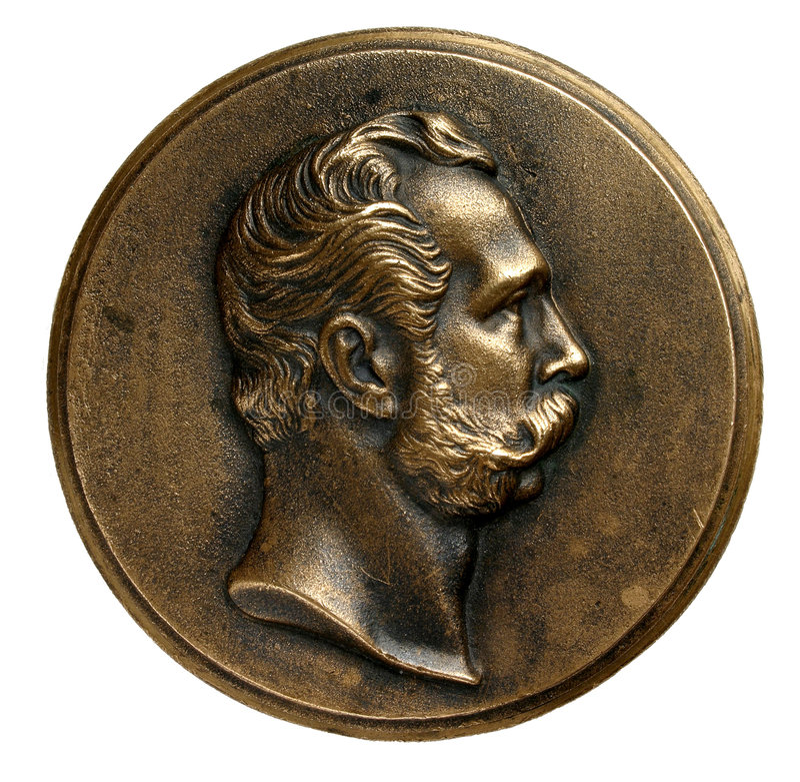 Medalha de Alexander II fotos de stock