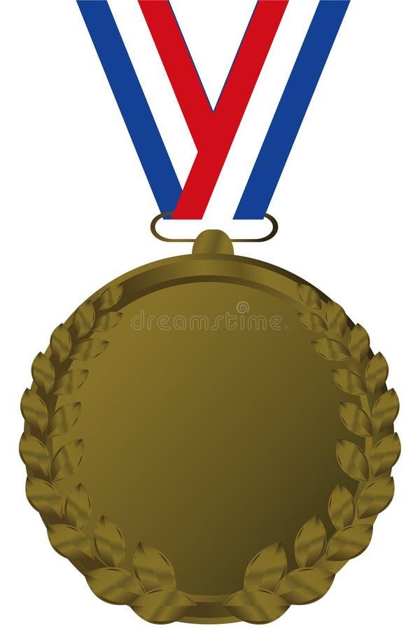 Medalha de bronze ilustração royalty free