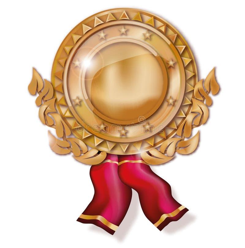 Medalha de cobre ilustração stock