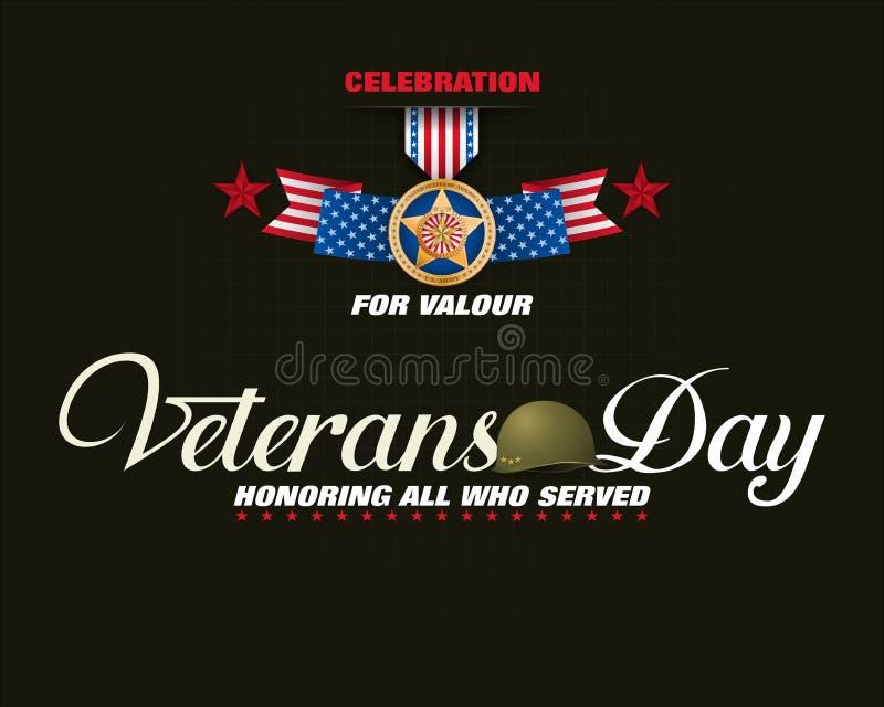 Medalha de honra para U S veterans ilustração do vetor