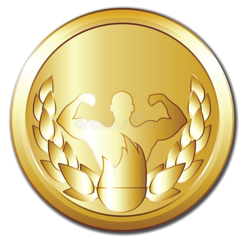 Medalha de ouro ilustração do vetor