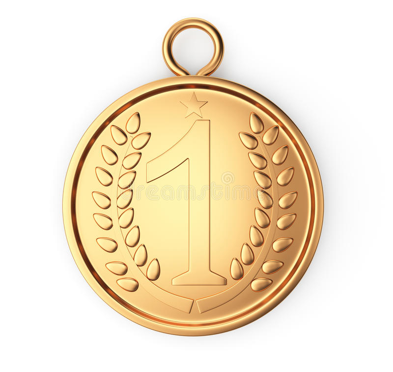 Medalha de ouro ilustração royalty free